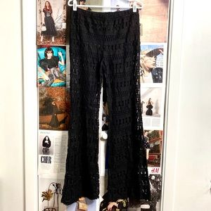 Cutout lace wide leg pants from Forever 21